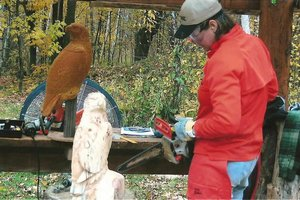 Cindi from WI carving her eagle